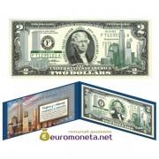 США 2 доллара 2003 9/11 Всемирного торгового центра оригинал