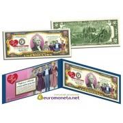 США 2 доллара 2003 Я люблю Люси цветные фотопечать оригинал