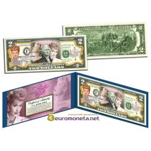 США 2 доллара 2003 я люблю Люси Болл к 100-летию со дня рождения цветные оригинал