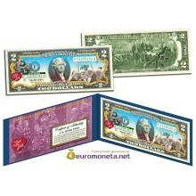 США 2 доллара 2003 я люблю Люси Болл Рождество цветные оригинал