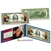 США 2 доллара Унесённые ветром цветные фотопечать оригинал