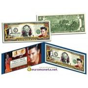 США 2 доллара Элвис Пресли Elvis цветные фотопечать оригинал