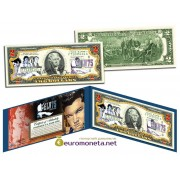 США 2 доллара Элвис Пресли 75 лет ELV75 цветные фотопечать оригинал