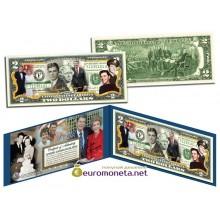 США 2 доллара 2003 Рональд Рейган цветные фотопечать оригинал