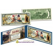 США 2 доллара Гражданская война 150 лет цветные фотопечать оригинал