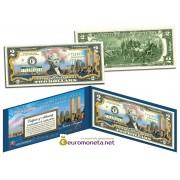 США 2 доллара Всемирный торговый центр 9/11 цветные фотопечать оригинал