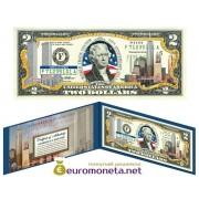 США 2 доллара Всемирный торговый центр 9/11 10-летие цветные фотопечать оригинал