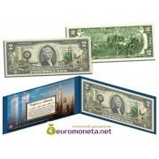 США 2 доллара Всемирный торговый центр 9/11 10-летие золото оригинал