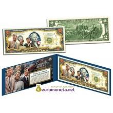 США 2 доллара 2003 семья Кеннеди братья цветные фотопечать оригинал