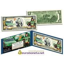 США 2 доллара 2003 Даника Патрик Nascar Go Daddy цветные фотопечать оригинал