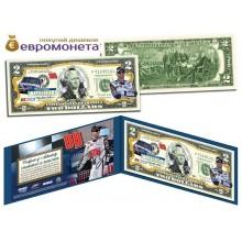 США 2 доллара 2003 Дейл Эрнхардт JR НАСКАР 88 цветные фотопечать оригинал