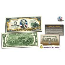 США 2 доллара 2003 морские пехотинцы Вторая Мировая война фотопечать цветные оригинал