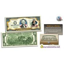 США 2 доллара 2003 армия США Вторая Мировая война фотопечать цветные оригинал
