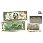 США 2 доллара 2003 ВВС США Вторая Мировая война цветные фотопечать оригинал