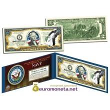 США 2 доллара 2003 флот США Вторая Мировая война цветные фотопечать оригинал