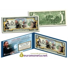 США 2 доллара 2003 Мартин Лютер Кинг (MLK) 50-летие цветные фотопечать оригинал