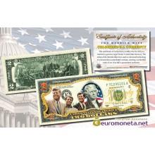 США 2 доллара 2003 семья Кеннеди братья фотопечать цветные оригинал