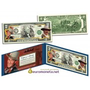 США 2 доллара 2003 Джон Уэйн The DUKE цветные фотопечать оригинал