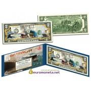 США 2 доллара ТИТАНИК 100 лет цветные фотопечать оригинал