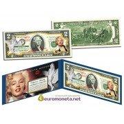 США 2 доллара Мэрилин Монро цветные фотопечать оригинал