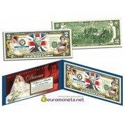 США 2 доллара Принцесса Диана цветные фотопечать оригинал