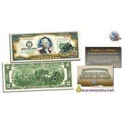 США 2 доллара 2003 морские пехотинцы Вторая Мировая война цветные фотопечать оригинал