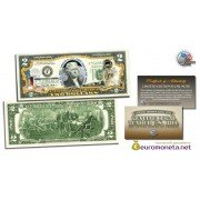 США 2 доллара Аполлон -11 первый на Луне фотопечать цветные оригинал