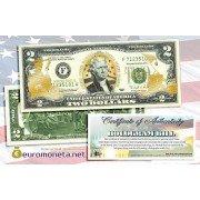 США 2 доллара морские пехотинцы США золотое тиснение оригинал