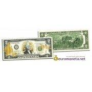 США 2 доллара ВВС США золотое тиснение оригинал