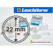 Leuchtturm капсула для хранения монет внутренний диаметр 22 мм, внешний 28,5 мм, 10 штук, Германия