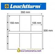 Германия Leuchtturm MAXIMUM MAX 3W лист для открыток и другого, белый 5 листов