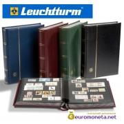 Leuchtturm альбом PREMIUM DIN A4 S64 чёрные страницы, кожаная обложка, зелёный, Германия