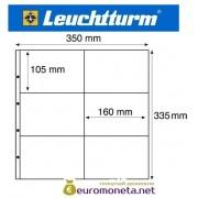 Германия Leuchtturm MAXIMUM MAX 2W лист для открыток и другого, белый 5 листов