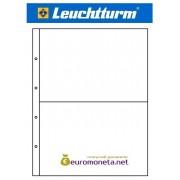 Германия Leuchtturm пластиковый лист KANZLEI 2C, 2 ячейки, 5 штук, прозрачный