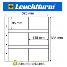 Германия Leuchtturm MAXIMUM MAX 5C лист для банкнот, акций, открыток и другого, прозрачный 5 листов