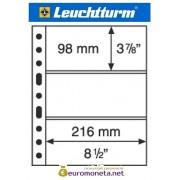 Leuchtturm GRANDE 3C лист прозрачный для банкнот А4, 3 ячейки, Германия