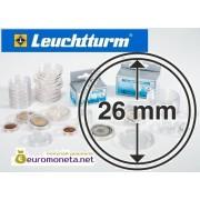 Leuchtturm капсула для хранения монет внутренний диаметр 26 мм, внешний 32 мм, 10 штук, Германия