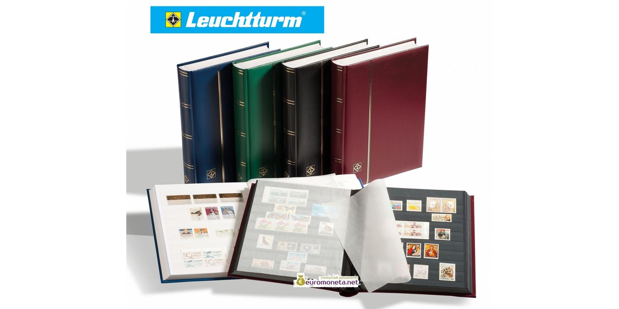 Leuchtturm альбом COMFORT DIN A4 S32 чёрные страницы, мягкая обложка, зелёный, Германия