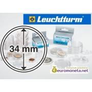 Leuchtturm капсула для хранения монет внутренний диаметр 34 мм, внешний 40 мм, 10 штук, Германия