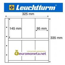 Leuchtturm MAXIMUM MAX 6S лист чёрный для банкнот, открыток и другого