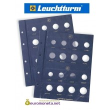 Leuchtturm лист для евро наборов монет формат VISTA OPTIMA, 16 ячеек, 2 листа