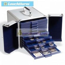 Кофр алюминиевый кейс SMART для монет, вместимость 10 планшетов (кассет) Leuchtturm Германия