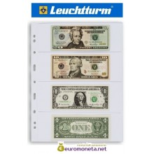 Leuchtturm GRANDE 4C лист прозрачный для банкнот А4, 4 ячейки, Германия