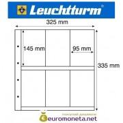 Германия Leuchtturm MAXIMUM MAX 6W лист для открыток и другого, белый 5 листов