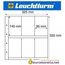 Германия Leuchtturm MAXIMUM MAX 6C лист для банкнот, акций, открыток и другого, прозрачный 5 листов