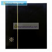Альбом для марочных листов BOGA 4, чёрный, 12 страниц, кожаная обложка, Leuchtturm Германия