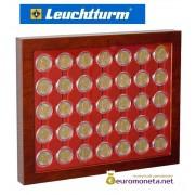 Leuchtturm рамка планшет для монет 2 евро в капсулах со стеклом, 35 ячеек, Германия