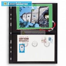 Leuchtturm OPTIMA 2S лист чёрный для банкнот, 4 ячейки, пр-во Германия