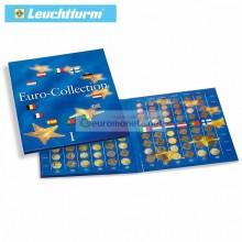 Leuchtturm Альбом для монет PRESSO, евро Коллекция для 12 первых комплектов монет евро, выпуск 1