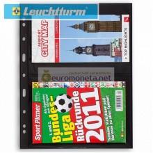 Германия Leuchtturm GRANDE 2S лист чёрный для банкнот А4, 4 ячейки